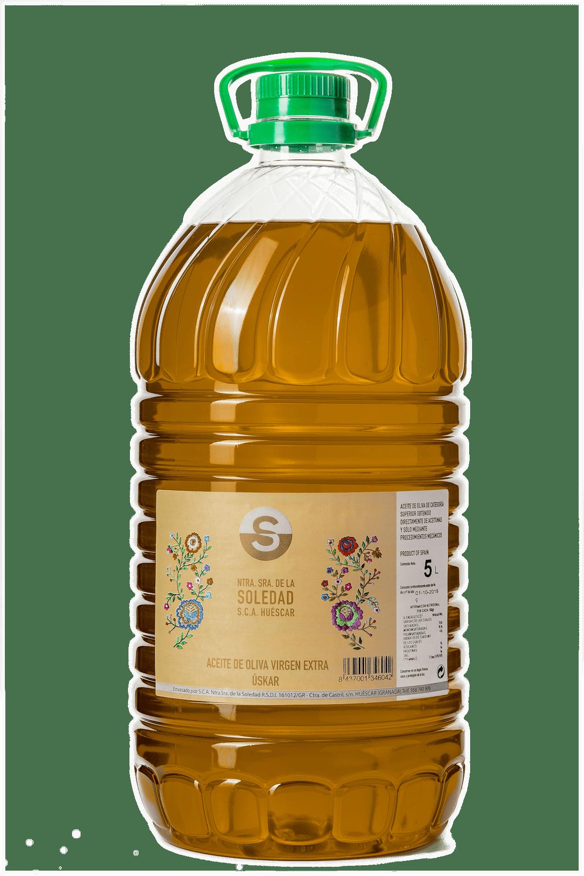 Aceite Cooperativa La Soledad garrafa 5 L.
